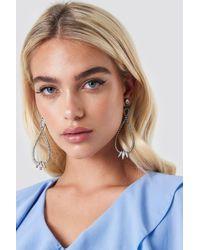 NA-KD - Rhinestone Twisted Drop Earrings - Lyst