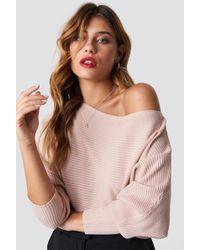 Trendyol - Off Shoulder Knitted Jumper Powder Pink - Lyst