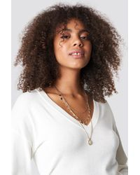 Mango - Lugano Necklace Gold - Lyst