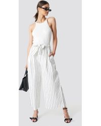 Mango - Uriolo Trousers Offwhite - Lyst