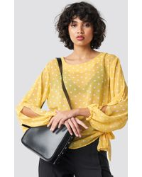Rut&Circle - Dot Sleeve Open Blouse Butter - Lyst