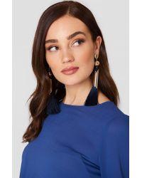 Mango - Pompon Beads Earrings - Lyst