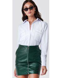 Rut&Circle - Pu Zip Pocket Skirt Forest Green - Lyst