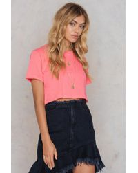 NA-KD - Neon Cropped Tee - Lyst