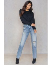 Calvin Klein | Hr Straight Ankle Raw Jeans | Lyst