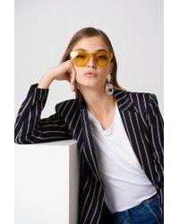 538c6f7bd5 Lyst - Carrera 6000 Yellow Printed Wayfarer Sunglasses in Brown