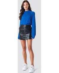 Rut&Circle - Pu Zip Pocket Skirt Black - Lyst