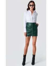 Rut&Circle - Pu Zip Pocket Skirt Forest Green - Lyst