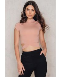 Evaliah Grace - Capped Sleeve Piper Crop - Lyst