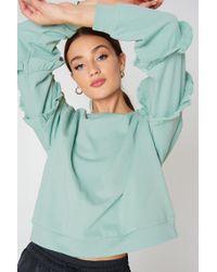 Glamorous - Ruffle Sleeve Sweater - Lyst
