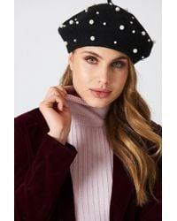 NA-KD - Faux Pearl Beret Hat - Lyst