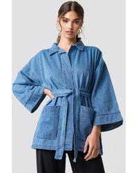 NA-KD - Denim Kimono Medium Wash - Lyst