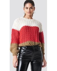 Mango - Cabin Sweater Red - Lyst