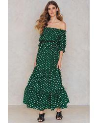 2c4ca36ef7 SHEIN - Bardot Neckline Maxi Dress - Lyst