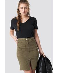 Trendyol - Slit Midi Skirt Khaki - Lyst