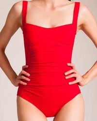 Karla Colletto - Basic Square Neck Swimsuit - Lyst