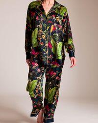 Oscar de la Renta - Jungle Print Pyjama - Lyst