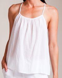 Skin - Cotton Gauze Camisole - Lyst