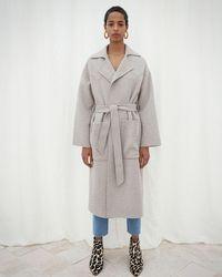Nanushka - Wool Robe Coat - Lyst