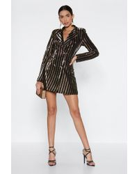 Nasty Gal - Into The Party Business Blazer Dress - Lyst