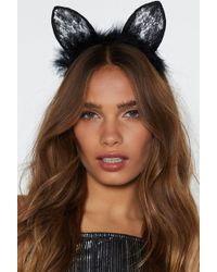 Nasty Gal - Are You Fur Real Cat Headband - Lyst