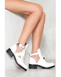 Nasty Gal - Cut Out Buckle Boot Cut Out Buckle Boot - Lyst