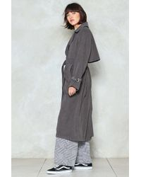 Nasty Gal - Keep At It Duster Coat Keep At It Duster Coat - Lyst