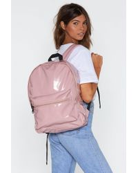 Nasty Gal - Want Leave It All Behind Textured Backpack - Lyst