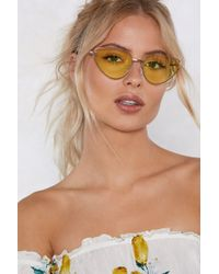 Nasty Gal - The Future's So Bright Cat-eye Shades - Lyst