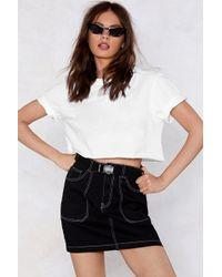 Nasty Gal - I Am Sew Into You Mini Denim Skirt - Lyst
