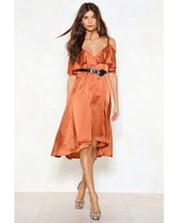 Nasty Gal - Don't Be So Cold Midi Dress - Lyst