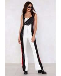 Nasty Gal - Get My Heart Racing Faux Leather Jumpsuit - Lyst