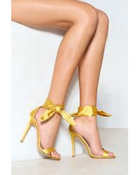 Nasty Gal | Knot This Time Satin Heel | Lyst