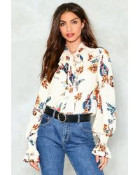 Nasty Gal | Pussybow Retro Floral Blouse Pussybow Retro Floral Blouse | Lyst
