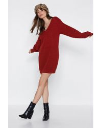 Nasty Gal - I Want Knit That Way Sweater Dress - Lyst