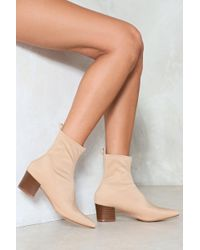 Nasty Gal - Lycra Block Heel Boot Lycra Block Heel Boot - Lyst