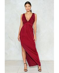 Nasty Gal - Rouched Slinky Maxi Dress Rouched Slinky Maxi Dress - Lyst