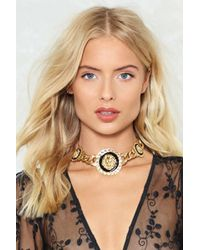 Nasty Gal - Don't Take It Lion Down Curb Choker - Lyst