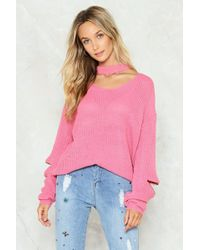 Nasty Gal - Our Zips Are Sealed Choker Jumper - Lyst