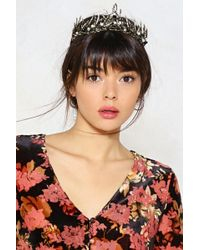 Nasty Gal - Crown For Whatever Diamante Crown - Lyst