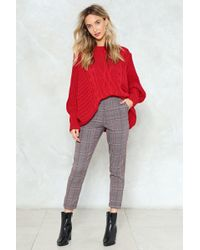 Nasty Gal - Just Checking In High-waisted Trousers - Lyst