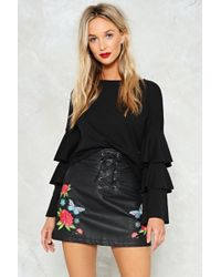 Nasty Gal - Grow All Out Vegan Leather Skirt - Lyst