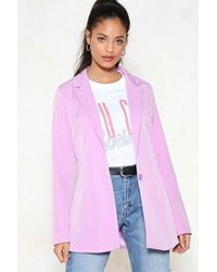 Nasty Gal - Over The Top Blazer - Lyst