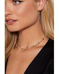 Nasty Gal - It's In Your Stars Diamante Choker - Lyst
