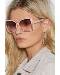 Nasty Gal - In Great Haze Oversized Shades - Lyst