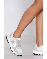 Nasty Gal - Star Is Rising Chunky Trainer - Lyst