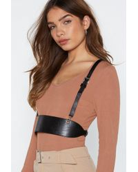 Nasty Gal - Get A Grip Faux Leather Harness - Lyst
