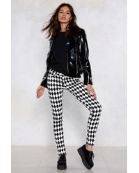 Nasty Gal - Diamonds Are A Girls Best Friend Checkerboard Jeans - Lyst