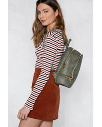 Nasty Gal - Want Don't Look Back Vegan Leather Backpack - Lyst