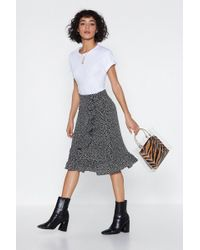 """Nasty Gal - """"with All My Mutt Dalmatian Skirt"""" - Lyst"""